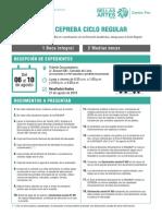 Requisitos Beca Centro Pre 2018-II