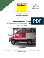 Protezione passiva al fuoco di attraversamenti impiantistici e giunti lineari