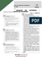 Analista Analise Sistemas Desenvolv Sistemas Tipo 1