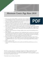 ASA Comics Page Rates 2010