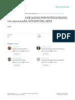 PURIFICACIÓN DEL AGUA POR FOTO CATALISIS