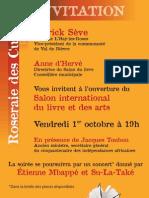 Invitation Au Salon International Du Livre 2010