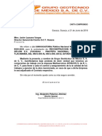 Carta Compromisos Personalizadas