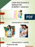 Evolucion Psicologica Del Embarazo en Adolescentes y Adultas