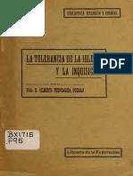 FUENZALIDA GUZMAN Gilberto - La Tolerancia de La Iglesia y La Inquisicion