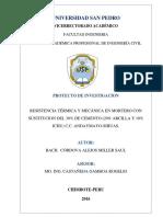 Proyecto De Tesis Resistencia Térmica y Mecánica en Mortero Con Arcilla y Ichu