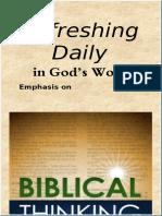 Biblical Thinking   August 2018