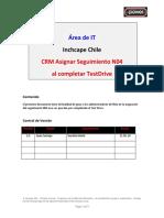 Autoline CRM Asignar N04 Al Completar TestDrive