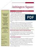 Washington Square News Letter