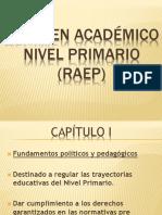 Régimen Acádemico Nivel Primario.