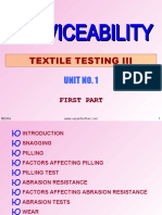 Serviceability of Fabric