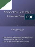 Administrasi Kesehatan Ppt Dr Husnil