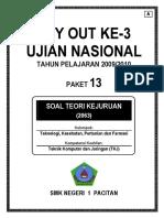 Kunci Tryout Tkj III a2009 2010