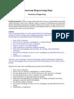 Downstream Bioprocessing Steps
