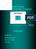 Global Mapper - Hydrotechnical Data Extraction
