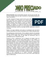 biografia de Antonio Preciado