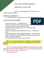 Afis Examen Licenta Iulie 2018