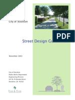 Appendix - Street Design Guidelines