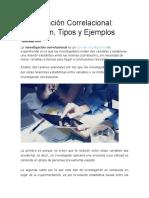 Investigacion Correlacional Definicion, Tipos y Ejemplos