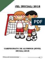 Bases de Campeonato Inicial 2018 Actual