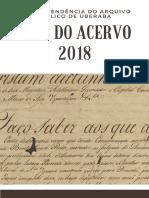 Guia Do Acervo Da Superintendência Do Arquivo Público de Uberaba - 2018