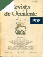 Uexküll, Jakob Johann - La Biología de La Ostra Jacobea [Revista de Occidente No. IX (Marzo de 1924)] [Robertokles Scans]