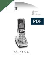 Uniden DCX150 Cordless Phone User Guides