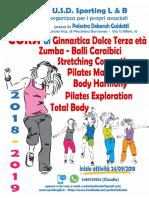 Corsi Palestra Deborah Guidotti 2018/2019