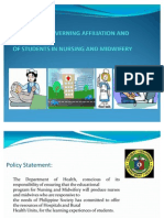 Guidelines Governing Affiliation and Training