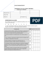 Sample Performa for Supervisor Evaluation