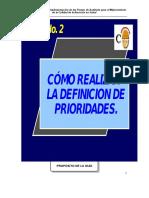 2 - Selección y Priorización de Procesos.