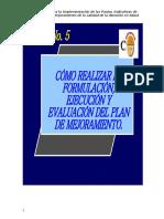 5 - Formulación, Ejecución y Evaluación Del Plan de Mejorami