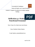 Reflection 3-7 Notional-Functional Grammar
