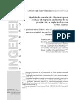 Modelo de simulación dinámica para evaluar el impacto ambiental de la producción y logística inversa de las llantas