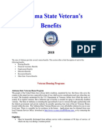 Vet State Benefits - AL 2018