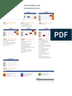 Calendario Academico SP1 AEDU Jundiaí