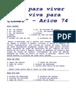 EBook Coma para viver e não viva para comer Receitas Arice.pdf