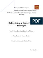 Reflection 4-2 Cooperative Principle
