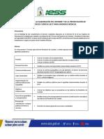 Instructivo Para La Elaboración Del Informe y de La Presentación de Rendición de Cuentas 2017 Unidades Médicas