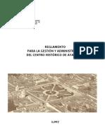 Reglamento Centro Histórico AYAC 2007-Word