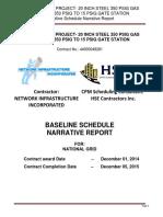 Sample Schedule Narative
