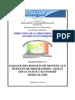 Etude Budgets Programmes