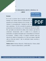 U II A2 L1 La Educación en Latinoamérica Entre La Cobertura y La Calidad