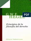 Hegel - Principios de La Filosofía Del Derecho.