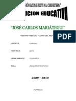 REGLAMENTO DE ESCUELA