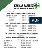 JAM PELAYANAN DI PUSKESMAS BABIRIK.doc