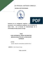 Re Maestria Edu Gina.quevedo Influencia.de.La.inteligencia.cognitiva.y.la.Inteligencia.emocional Datos