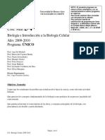 Programa 54 Biología e Introduccion a La Biología Celular