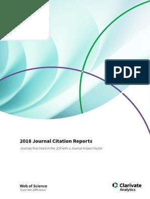 2018 Journal Citation Reports Medicine Science