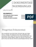 Ppt Kelompok 2 Teknik Dokumentasi Dan Pengembangan Sistem